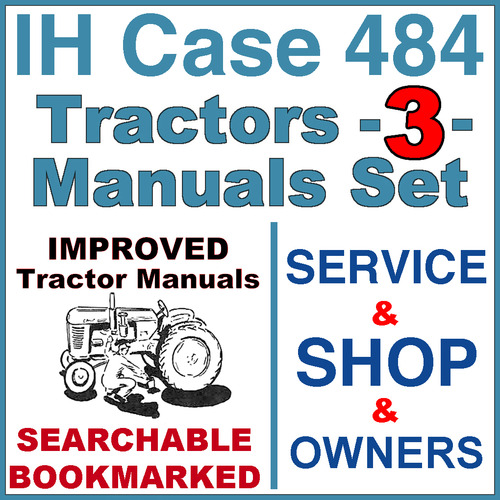 Pay for IH International Case 484 Tractor SERVICE, SHOP, OPERATOR Manual -3- Manuals - IMPROVED - DOWNLOAD