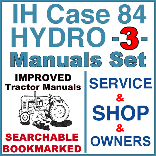 Pay for IH International Case Hydro 84 Tractor SERVICE, SHOP, OPERATOR Manual -3- Manuals - IMPROVED - DOWNLOAD