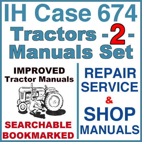 ih international case 674 tractor repair service shop manual 2 rh tradebit com 674 IH Tractor Specs International 350 Utility Tractor