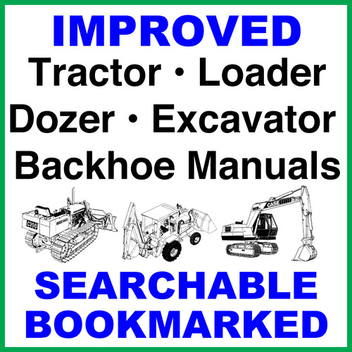 Collection of 2 files - Case 580 Super L Series 2 Backhoe Loader Operator  Manual & Parts Catalog - DOWNLOAD