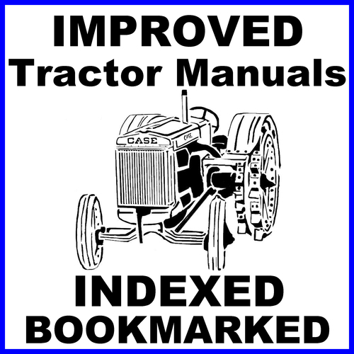 Pay for Collection of 2 files - Case D, DC, DCS, DO, DE Tractor FACTORY Repair Service Manual & Operators Manual - IMPROVED - DOWNLOAD