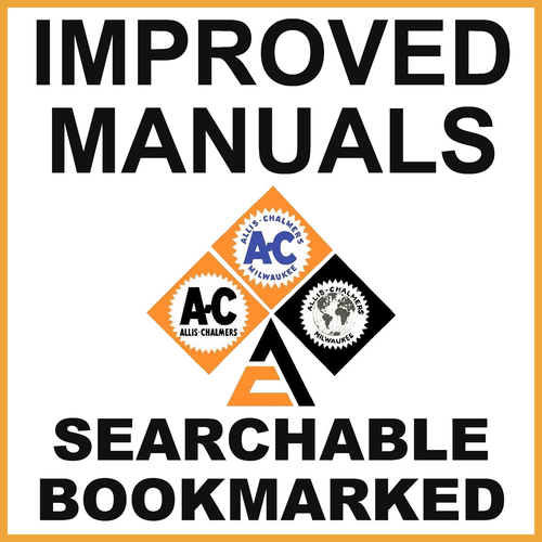 Pay for Collection of 2 files: Allis Chalmers 170 Tractor Service Repair & Operators Owners Manual - IMPROVED - DOWNLOAD