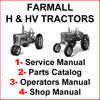Thumbnail IH Farmall H HV Tractor SERVICE, PARTS Catalog, OWNERS Manual -4- Manuals - DOWNLOAD