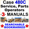 Thumbnail Collection of 3 files - Case 480C TLB Service Repair Manual & Operators Manual & Parts Manual - IMPROVED - DOWNLOAD