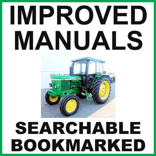 Pay for John Deere 2130 Tractor Service Repair Technical Manual TM4272 - IMPROVED - DOWNLOAD