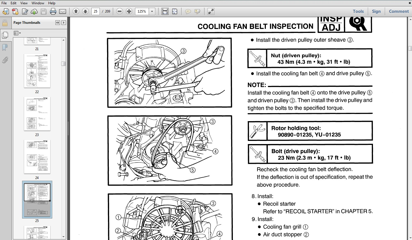 Free Yamaha VMAX 500 / DELUXE / 600 / DELUXE / 700 / DELUXE / VENTURE 700 Snowmobile Service  Repair Maintenance Overhaul Workshop Manual Download thumbnail