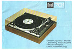 Thumbnail Dual 701 Turntable Owner & Service Manual (English & German)