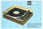 Thumbnail Dual 701 Turntable Owner & Service Manual (English & German)