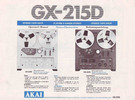 Thumbnail Akai GX-215D Owner & Service Manual + Schematics
