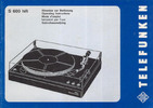 Thumbnail Telefunken S600 Turntable Owners Manual + Schematics