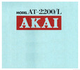 Thumbnail Akai at-2200 2200l Owner Manual and MORE !!!