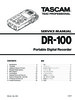 Thumbnail TASCAM DR-100 PORTABLE DIGITAL RECORDER