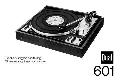 Pay for Dual 601 Turntable - Owner & Service Manual