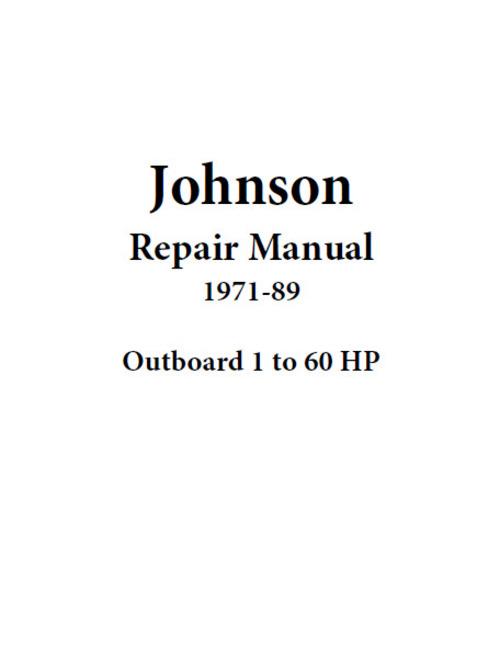 Free Johnson Repair Manual 1971-89 Outboard 1 to 60 hp Download thumbnail