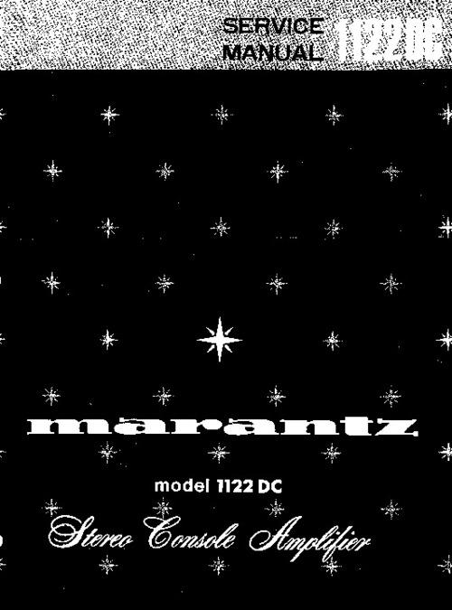Pay for Marantz Model 1122 DC Service Manual