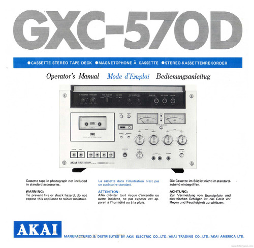 Pay for Akai gxc-570d service manual and MORE !!!