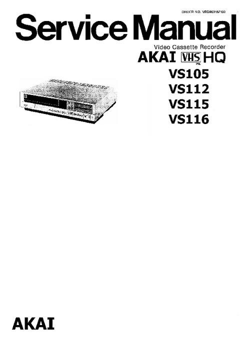 Pay for akai-vs105 112 115  Manual !!!