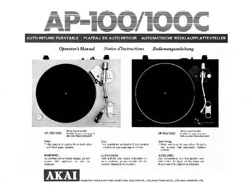 Pay for akai ap100 100c Owner Manual !!!