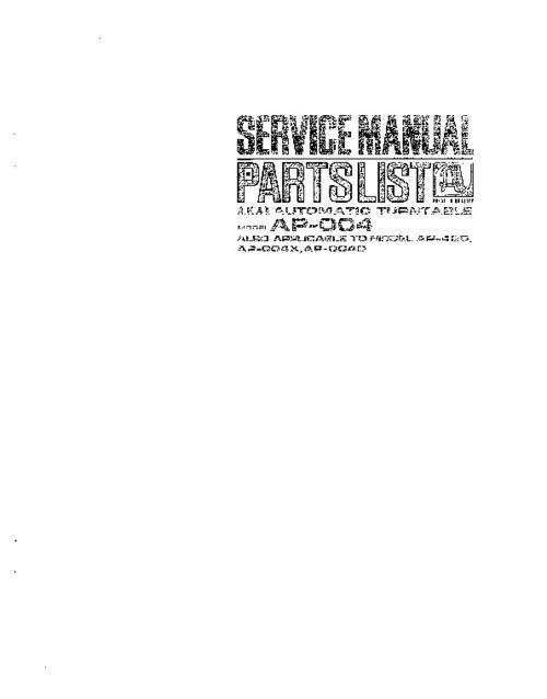 Pay for akai ap-004 420 Service Manual !!!