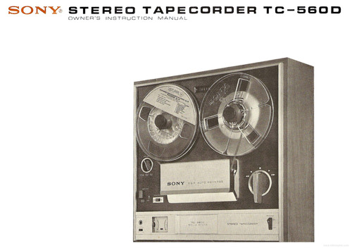 Pay for SONY TC-560D TAPE RECORDER SERVICE MANUAL