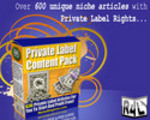 Thumbnail Over 600 unique niche articles with Private Label Rights