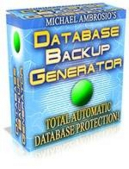 Pay for Database Backup Generator with mrr