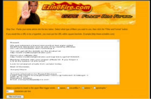 Pay for Ezine Filter and Format Software with MRR