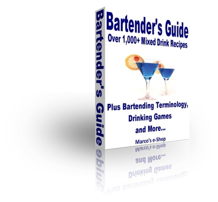 Pay for Bartenders Guide - Over 1,000 Mixed Drink & Cocktail Recipes