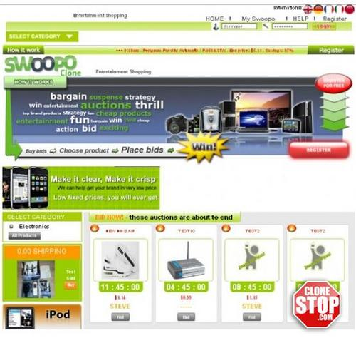 Pay for Swoopo PHP Clone