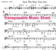 Thumbnail Just The Way You Are Lead Sheet - Billy Joel (transposable)