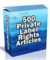 Thumbnail 500 PLR Articles