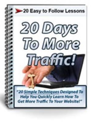 Pay for 20 Days To More Traffic Course with Private Label Rights