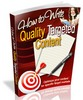 Thumbnail How to Write Quality Targeted Content - Optimize Your Conten