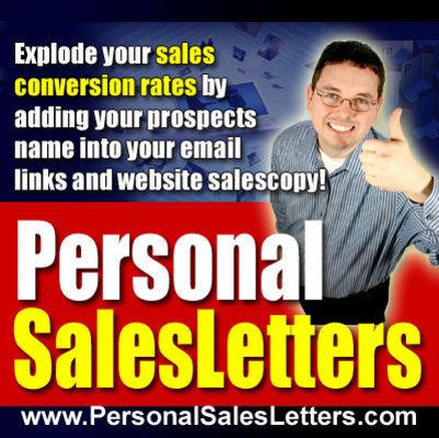 Pay for Personal Sales Letters