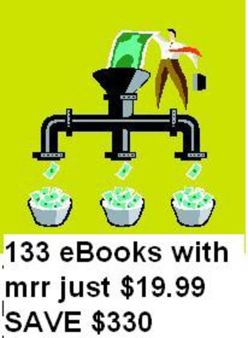 Pay for 133 eBooks with master resell rights/mrr SAVE $330