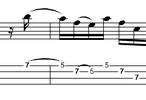 Thumbnail L349 Funky minor pentatonic bass run / fill