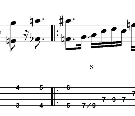 Thumbnail L03 Bluesy  pentatonic bass lick in A7