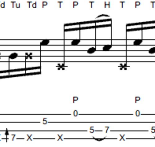 Pay for L336 Slap bass line in the style of Larry Graham