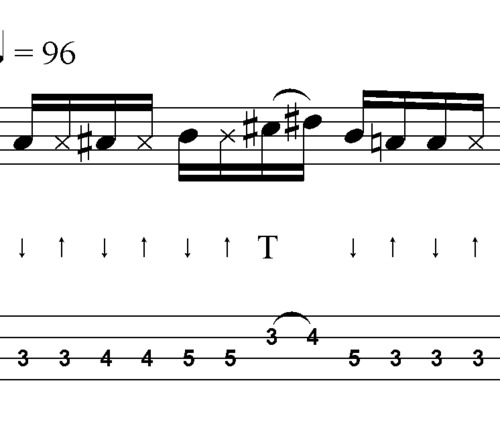 Pay for L08 Doublethumbing slap bass in D