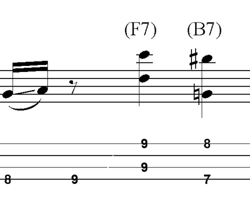 Pay for L19 A7 Bluesy bass riff with turnaround