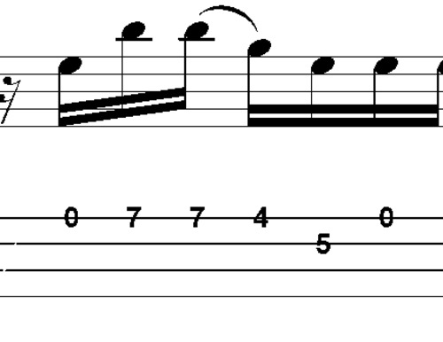 Pay for L49 Em Pentatonic Bass fill with open strings