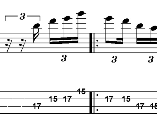 Pay for L274 Gm pentatonic bass lick in 5 positions