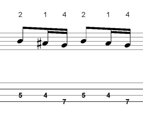 Pay for L264 Fast Em dorian scale BASS fill