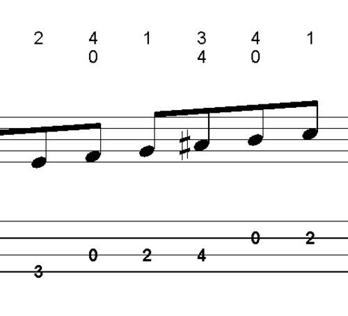 Pay for L256 Em7 dorian scale bass lick 1st position #2