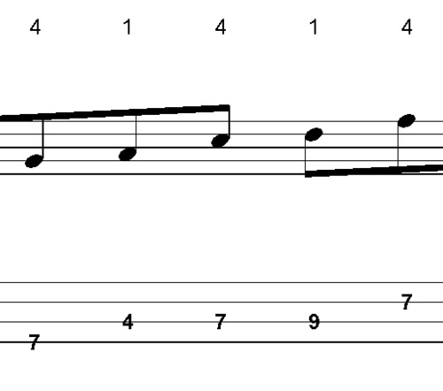 Pay for L253 A major bass solo ideas