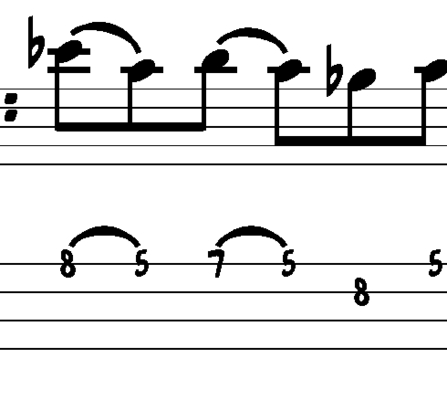 L196 Shuffle blues bass fill