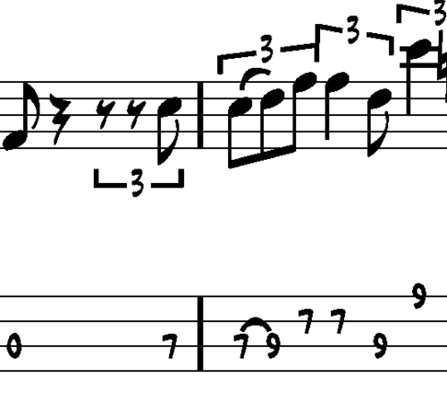 Pay for L70 Blues bass lick in A