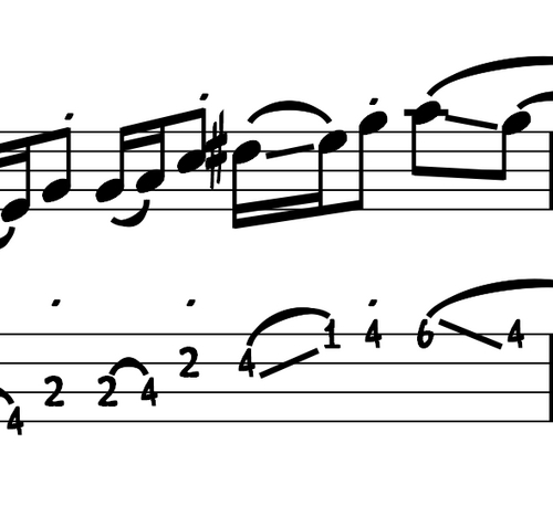 Pay for L116 Major pentatonic bass lick in E, A and B