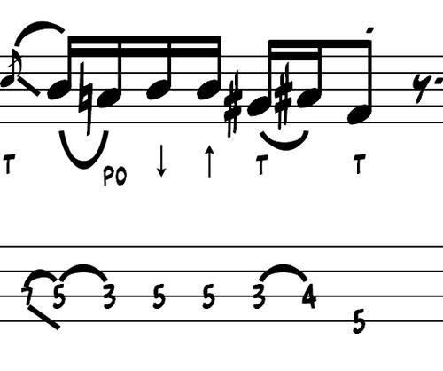 L127 Slap bass fill in A