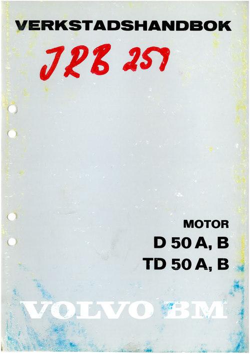 Pay for Volvo BM D 50 A, B TD 50 A, B verkstadshandbok
